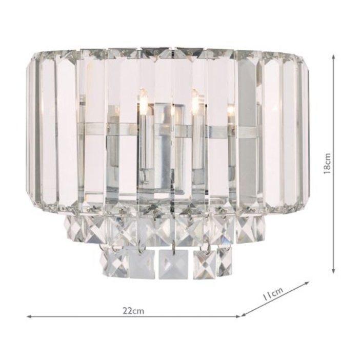 Vienna - Classic Crystal Wall Light - Polished Chrome - Laura Ashley