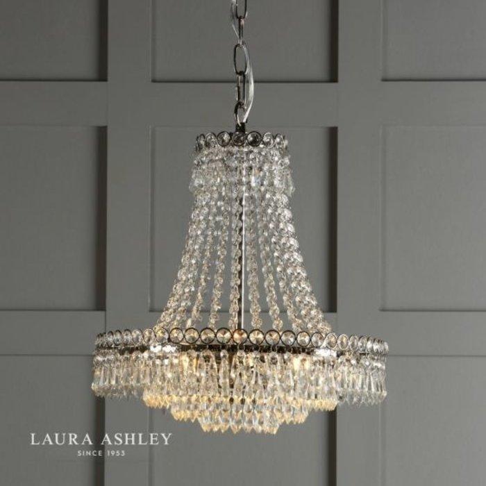 Enid - Cut Glass Classic Basket Chandelier - Laura Ashley