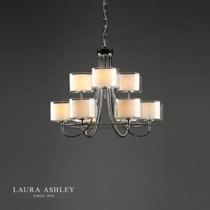 Southwell - Two Tier Glass Chandelier - Laura Ashley
