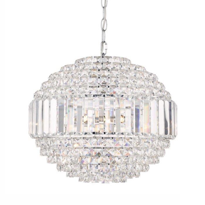 Vienna - Crystal & Chrome Orb Chandelier - Laura Ashley