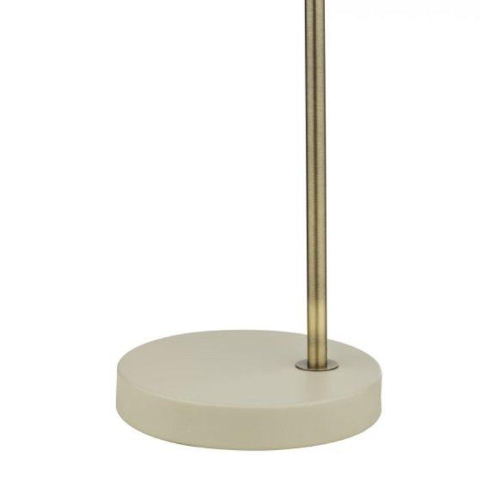 Freddy - Nordic Cream & Brass Table Lamp