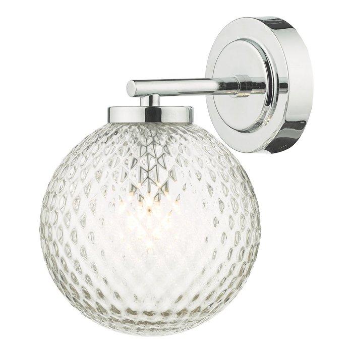 Bruce - Textured Glass Wall Light - IP44 Bathroom