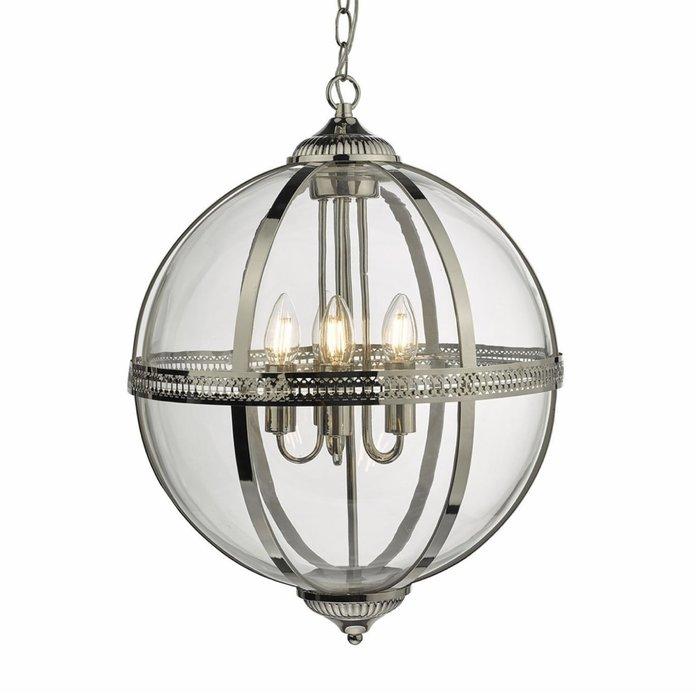Heritage - Large Classic Globe Lantern - Polished Nickel & Glass