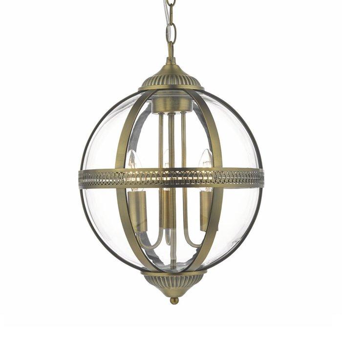 Heritage - Classic Globe Lantern - Antique Brass & Glass