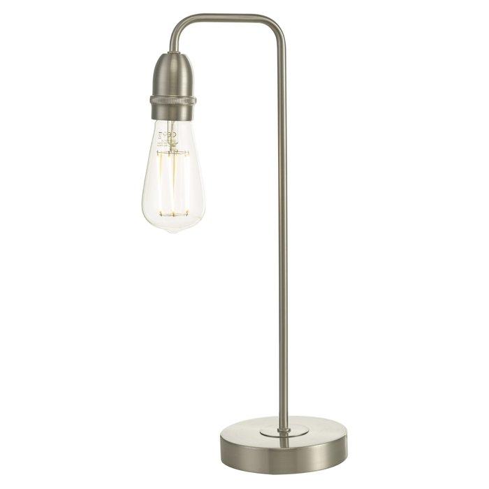 Rod - Satin Chrome Industrial Stick Table Lamp