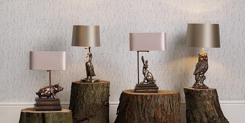 David Hunt Animal Table Lamps