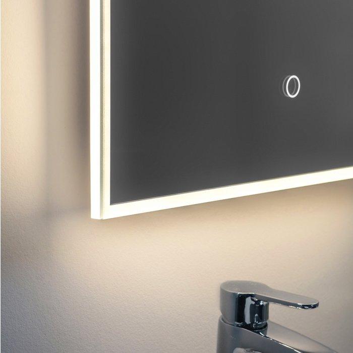 Ronan - Modern Edge Lit LED Illuminated Bathroom Mirror (Colour Changing Technology) & Shaver Socket