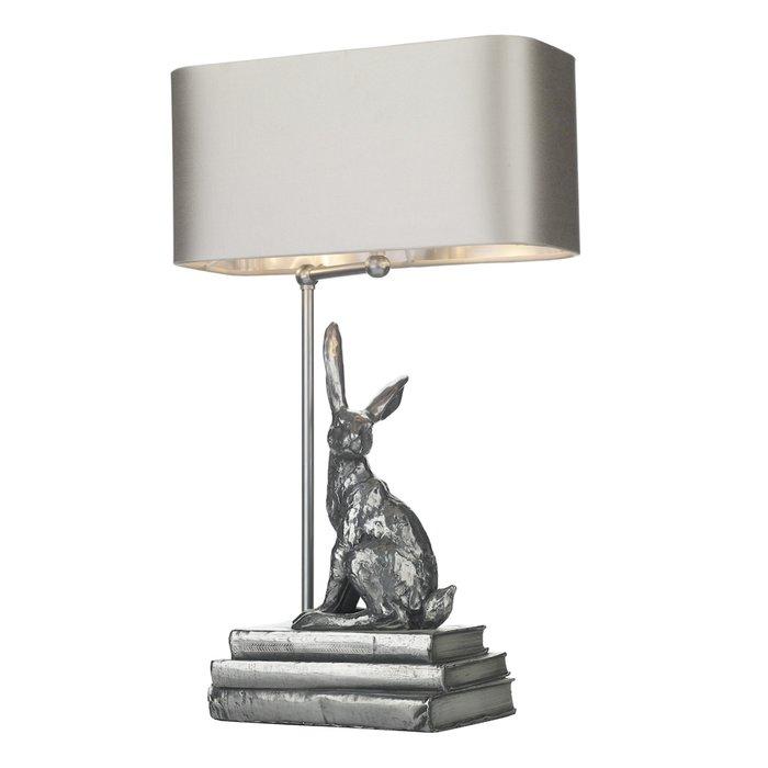 Hopper Table Lamp Pewter - David Hunt