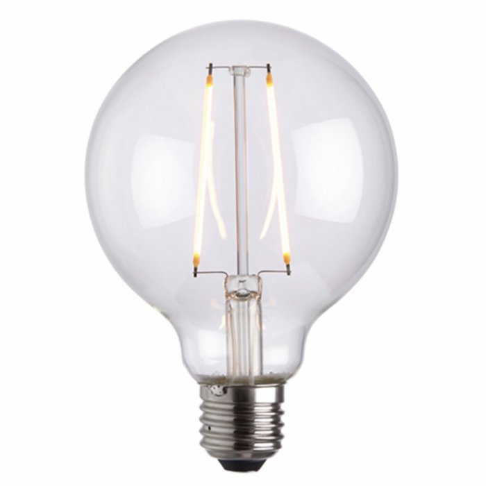 Vintage Decorative Clear Glass Globe LED Light Bulb - 2W