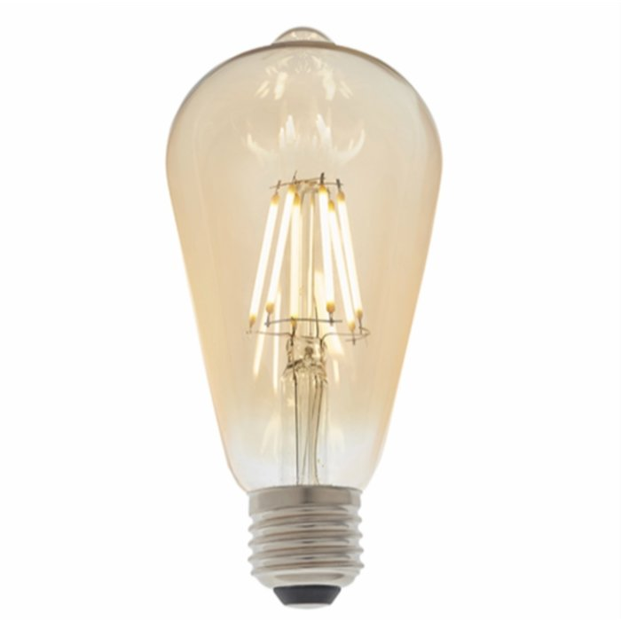 Dimmable Vintage Amber Glass LED Bulb - 6W