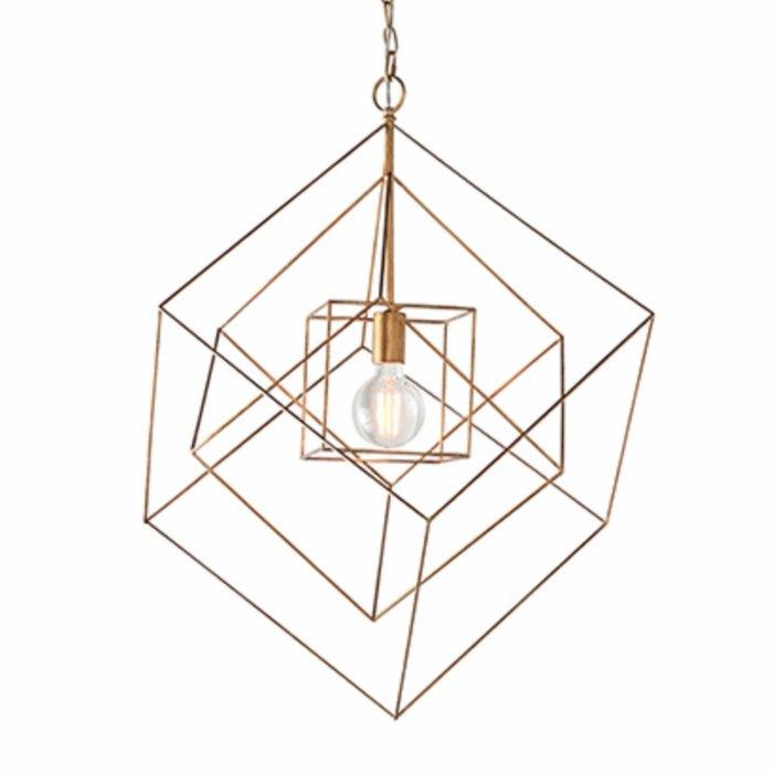 Ramshill - Large Gold Leaf Cage Single Pendant