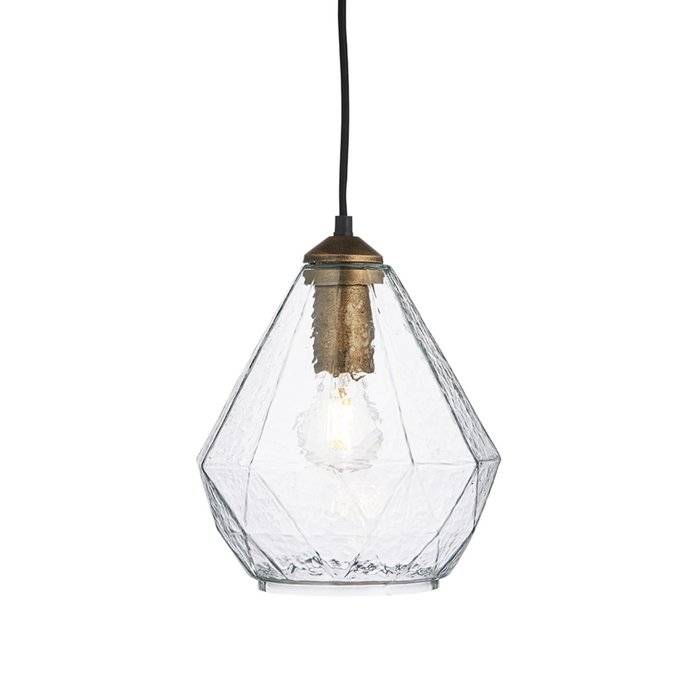 Lily – Glass and Gold Pendant Light