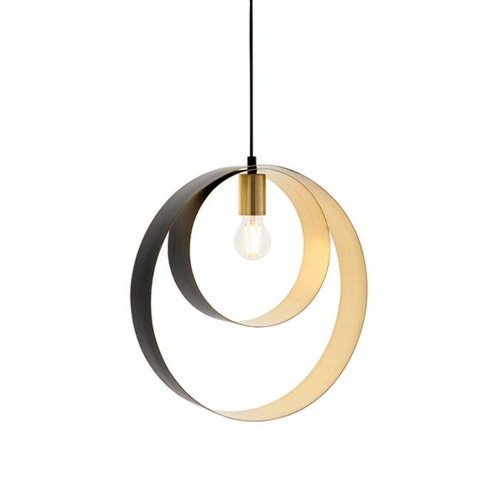 Callie – Contemporary Black & Brass Pendant Light