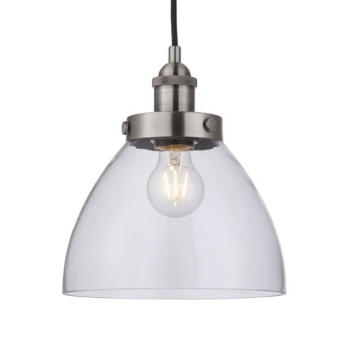Ernest – Industrial Pendant Light with Glass Shade