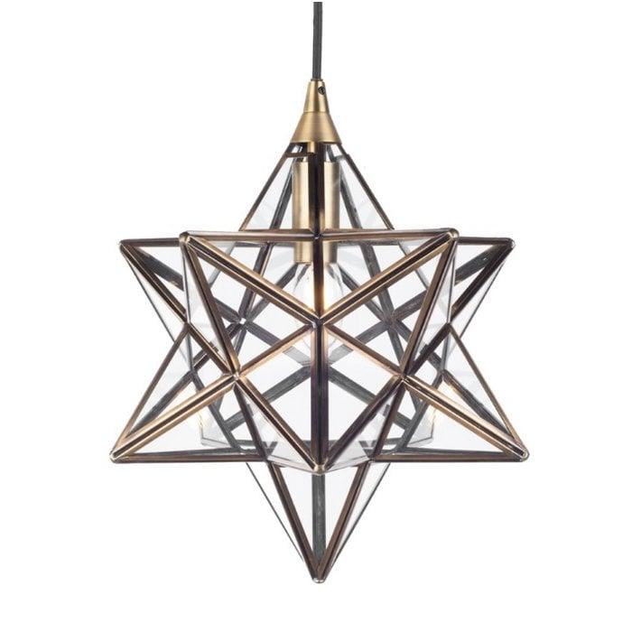 Sirius - Glass Panelled Star Pendant - Small