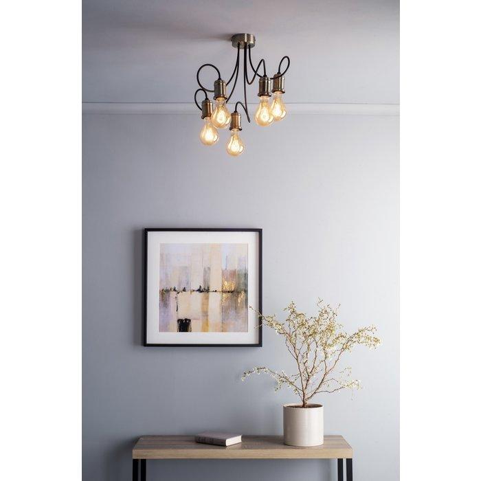 Oren - Floating Industrial Cable Semi Flush Ceiling Light