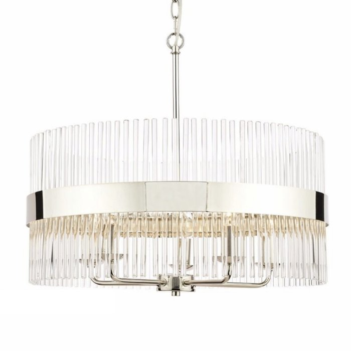 Alexa – 5 Light Pendant with Glass Rode Feature Shade – Laura Ashley