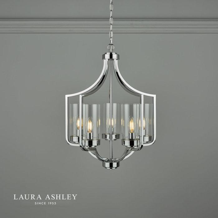 Joseph – Polished Chrome Chandelier with 5 Lights – Laura Ashley