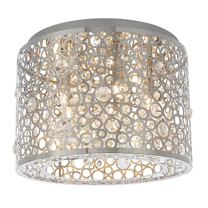 Sallie - Modern Flush Crystal Ceiling Light