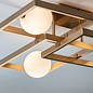 Nora – Compact Flush Light Fitting in Antique Brass Finish