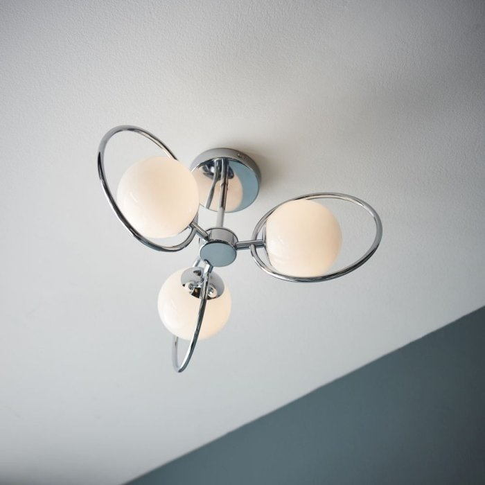 Saturn – 3 Light Semi Flush Contemporary Ceiling Light