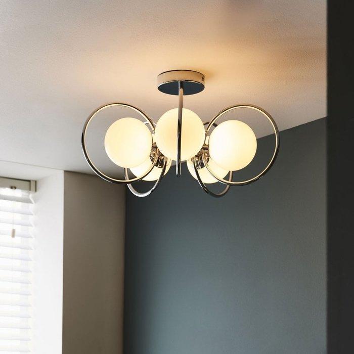 Saturn – Elegant 5 Light Semi Flush Ceiling Light