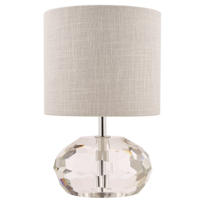 Pumpkin – Crystal Glass Table Lamp with Ivory Shade – Laura Ashley