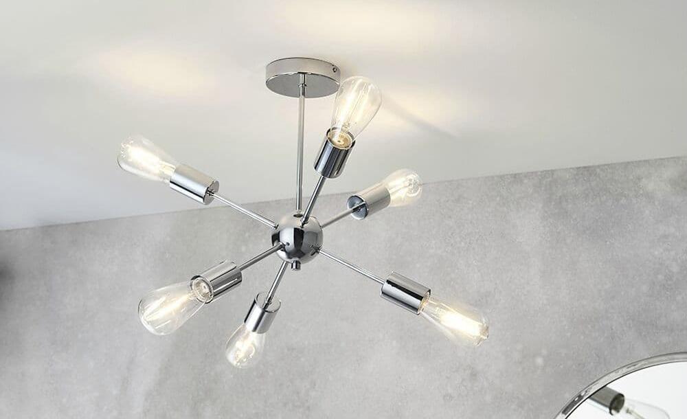 Sputnik ceiling light