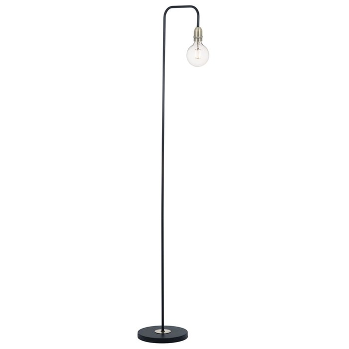 Rod - Minimalist Industrial Stick Floor Lamp - Black & Brass