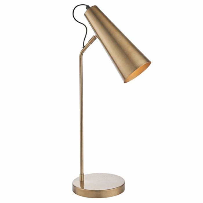 Leo - Task Table Lamp in Antique Brass