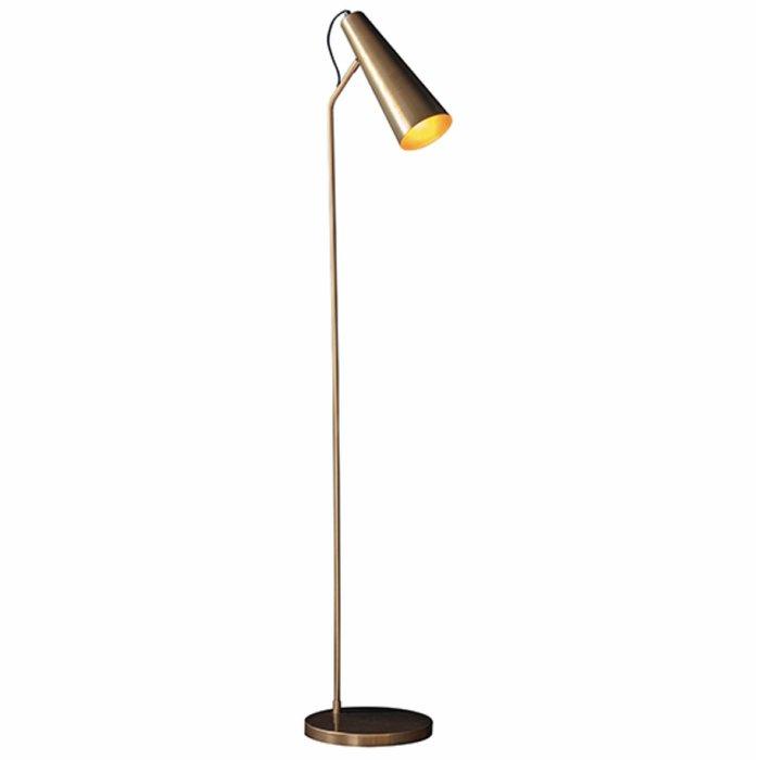 Leo - Task Floor Lamp in Antique Brass