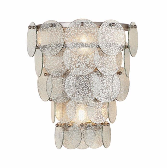 Thornton - Luxury Mercury Glass, Tiered Feature Wall Light
