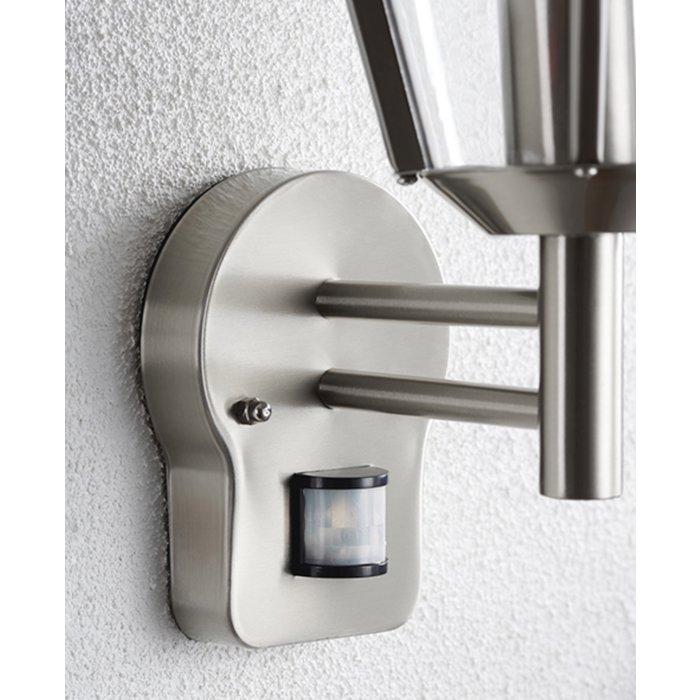 Freddie - Modern PIR Exterior Wall Light - Stainless Steel