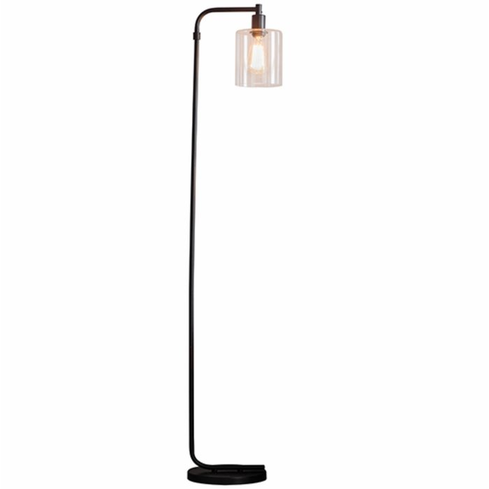 Nico - Modern Industrial Black Floor Lamp