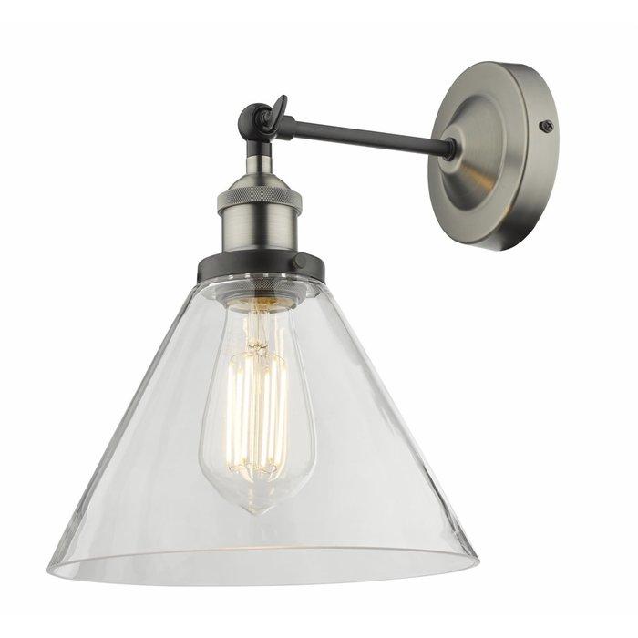 Sarah - Antique Chrome Vintage Single Glass Wall Light