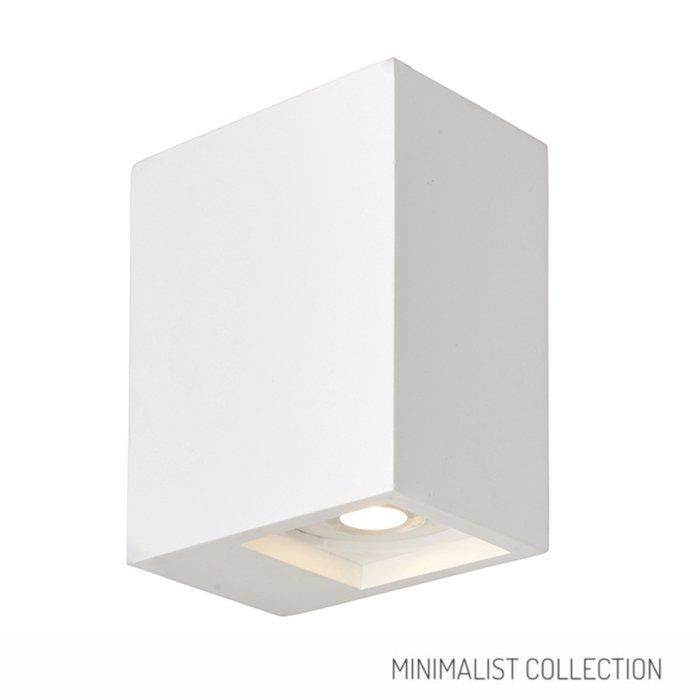 Tor - Modern Twin White Plaster Up & Down Wall Light