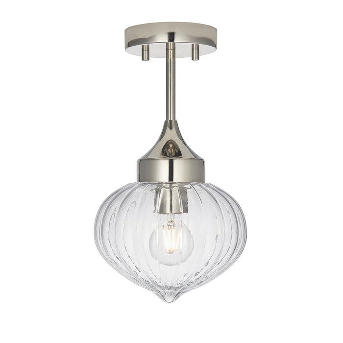Addington - Chrome and Glass Semi Flush Ceiling Light