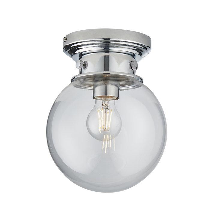 Cheswick - Glass Orb Flush Ceiling Light