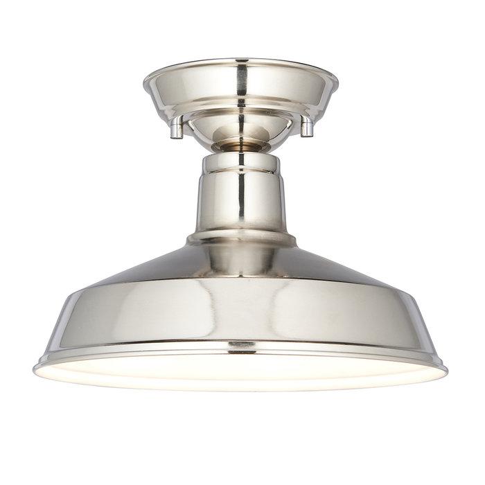 Darton - Nickel Semi Flush Ceiling Light