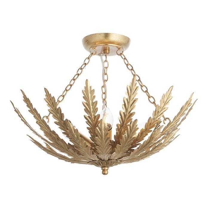Delphine - 3 Light Flush Ceiling Light in Gold