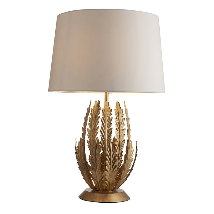 Delphine - Gold Table Lamp with Ivory Shade
