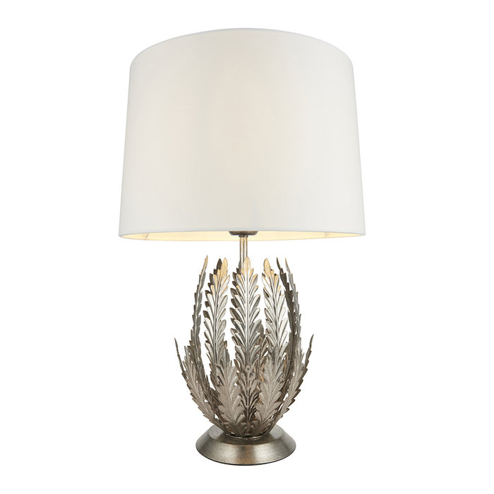 Delphine - Silver Table Lamp with Ivory Shade