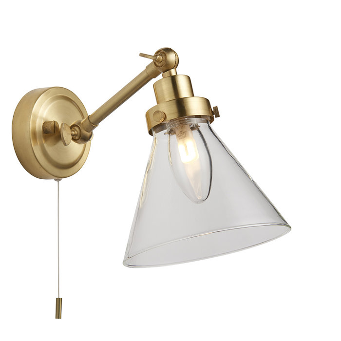 Faraday - Brass and Glass LED Wall Light