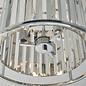 Hamilton - Chrome and Glass 3 Light Semi Flush Ceiling Light