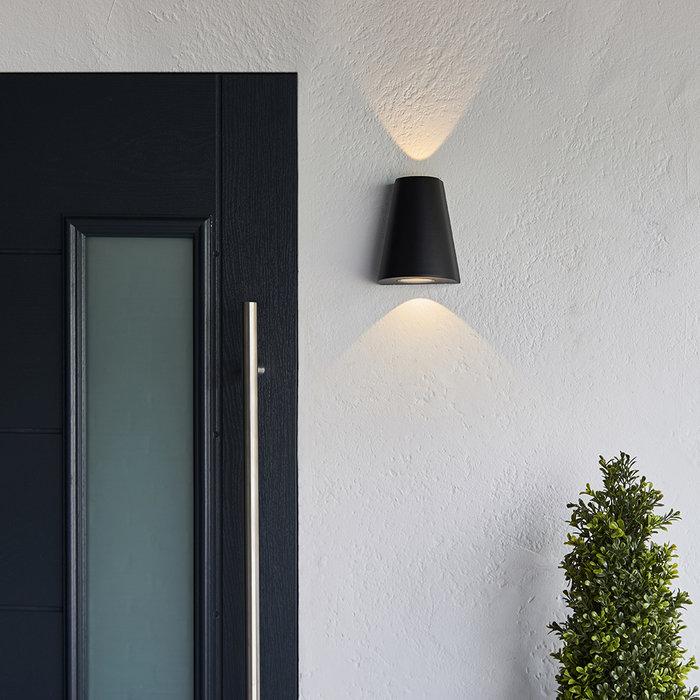Helm - 2 Light Exterior LED Wall Light