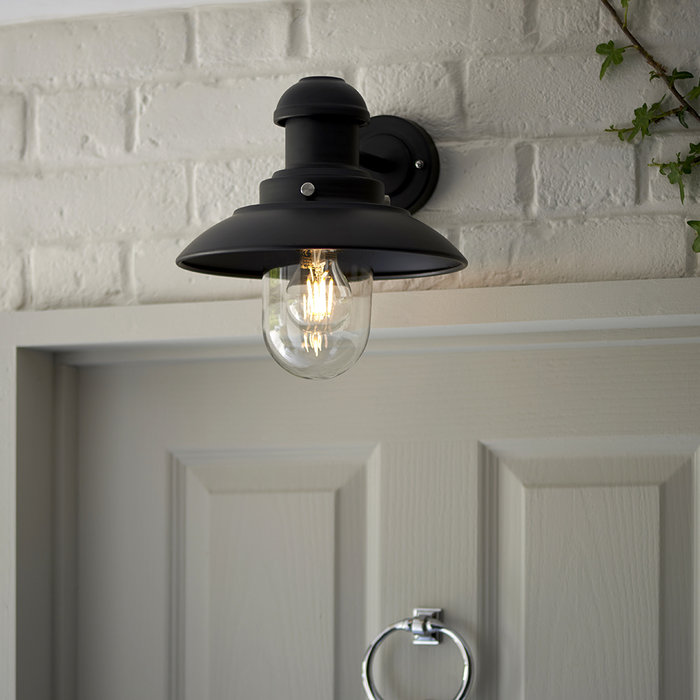 Hereford - Small Black LED Wall Light