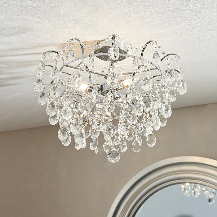 Alisona - 4 Light Flush Bathroom Ceiling Light