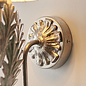Delphine - Silver LED Wall Light with Ivory Shade