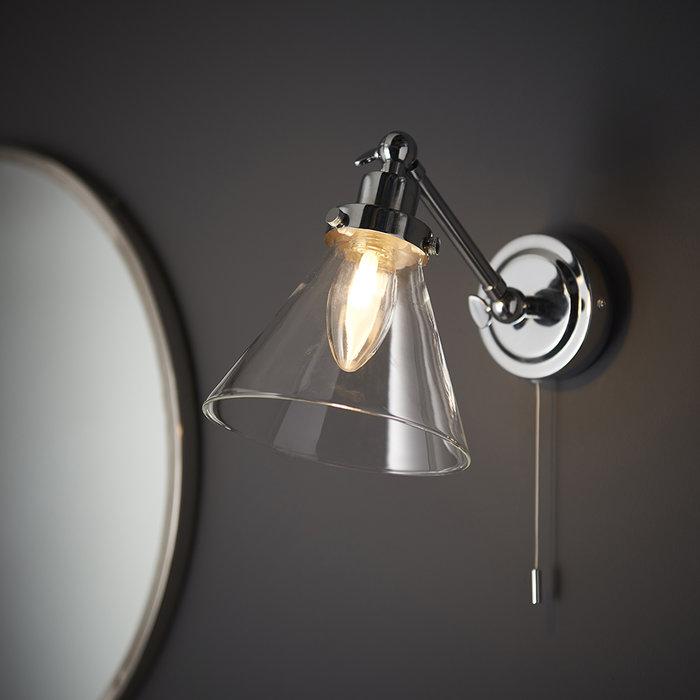 Faraday - Chrome and Glass LED Wall Light