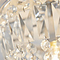 Iona - Chrome and Crystal Flush Ceiling Light